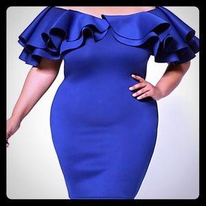 Fashion to figure blue body con dress. NWT